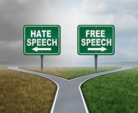 bigstock-Free-Speech-And-Hate-Talk-As-F-
