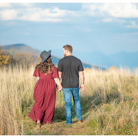 Max Patch Fall Sunset Engagement