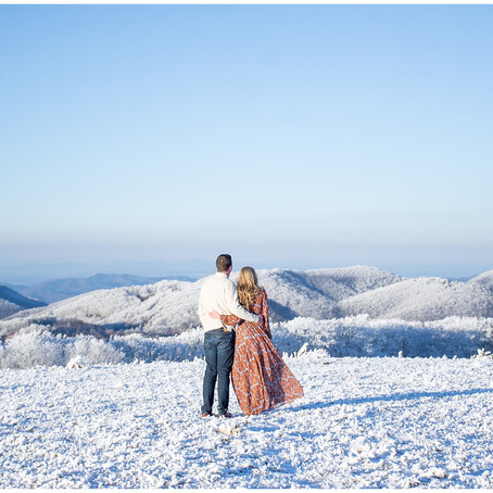 A Snowy Mountain Engagement