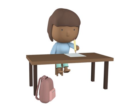 Innovation School Girl Writing