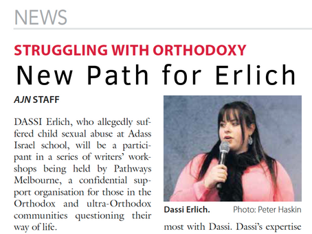 'Struggling with Orthodoxy: New path for Erlich