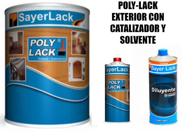 Kit Polylack Exterior UB200 Catalizador y Solvente