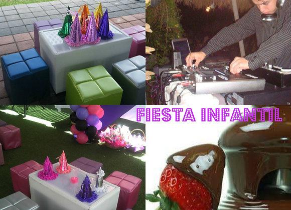 Fiesta Niños Salas Dj con animación y Fuente Choco