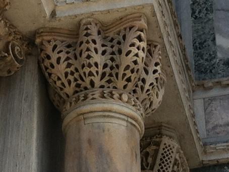 Fretwork in stone