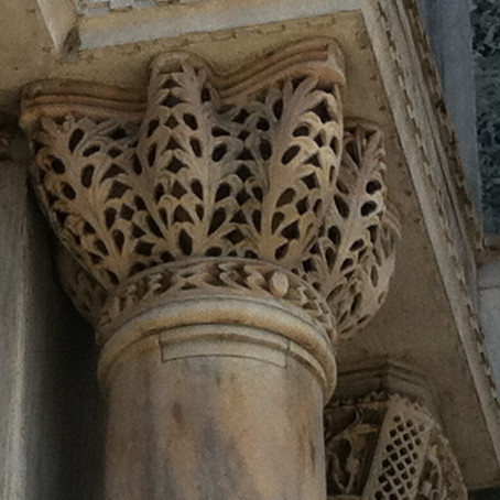 Fretwork in stone