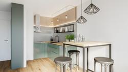 Küchenbereich Wohnzimmer