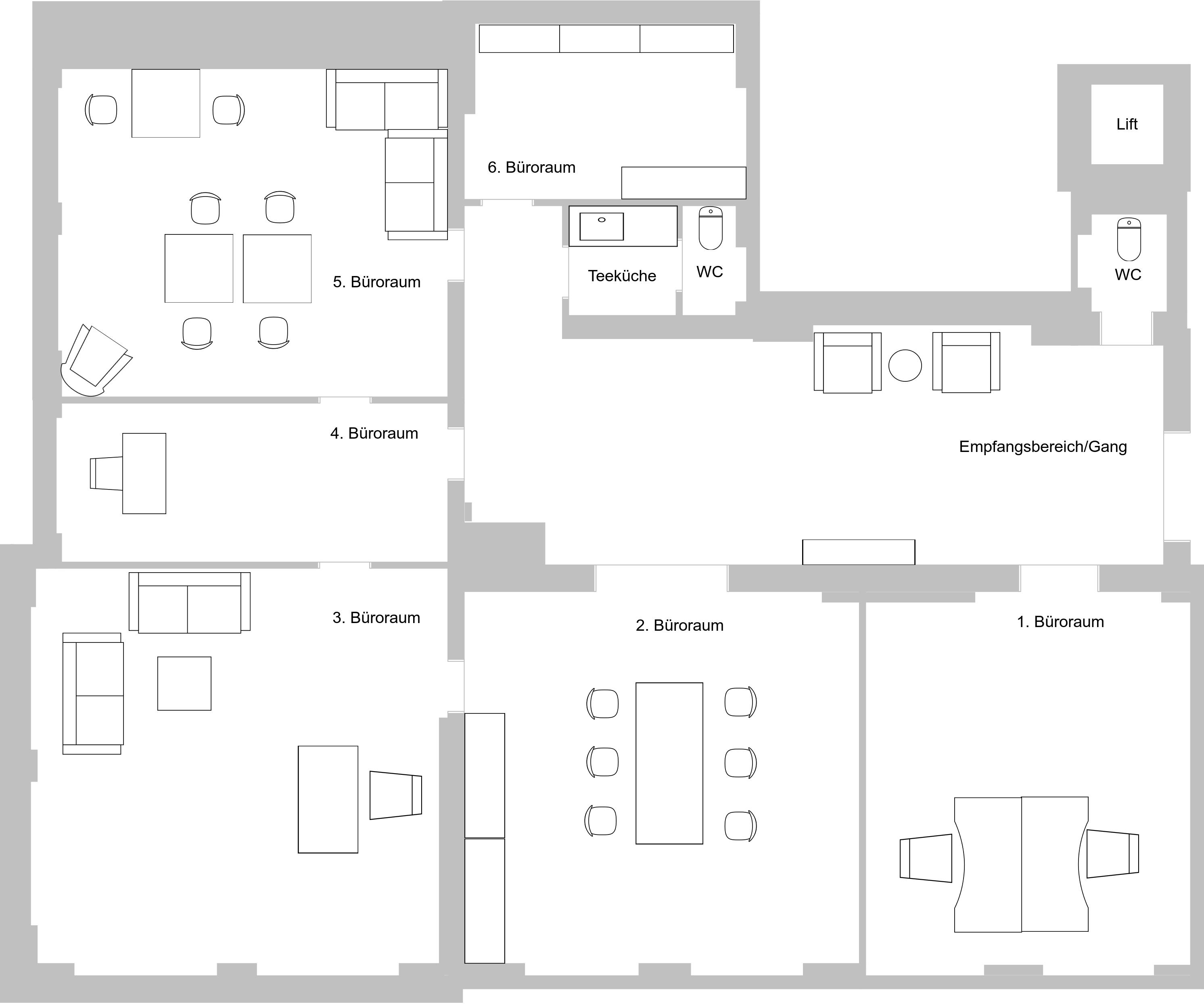 Visuelle Darstellung Raumaufteilung