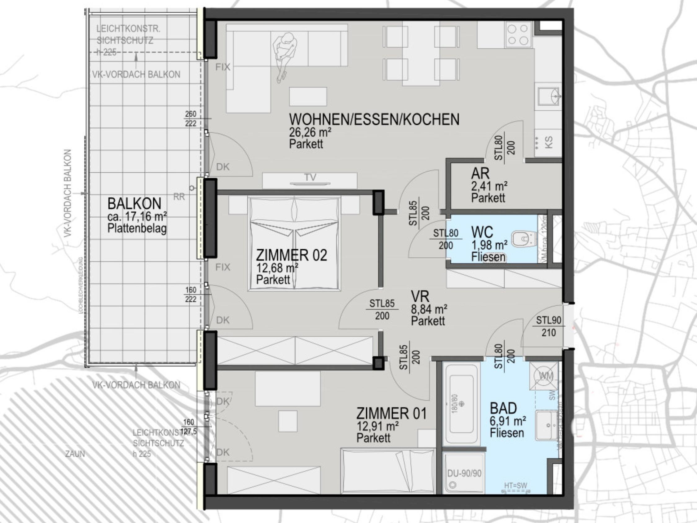 Kauf - 3 Zimmerwohnung