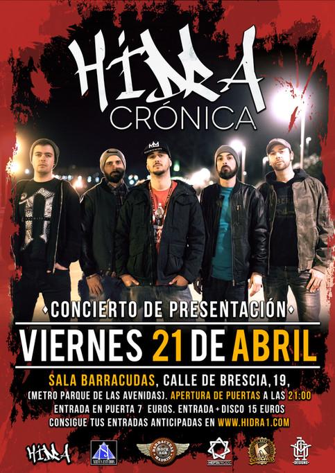 CONCIERTO DE PRESENTACIÓN DE CRÓNICA!!! 21 ABR, Sala Barracudas (Mad)