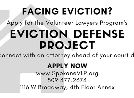 Facing Eviction? Apply for Assistance Through the VLP's Eviction Defense Project