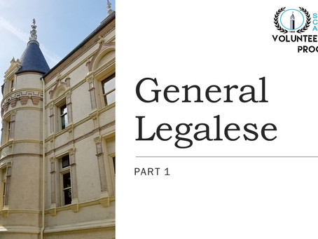 Video Highlight: General Legalese: Parts 1, 2, & 3