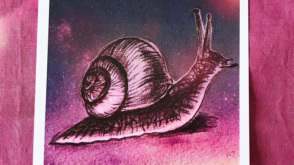 """""""Space Snail"""" Print"""