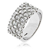 1.50CTS Diamonds  18k White Gold  Ring