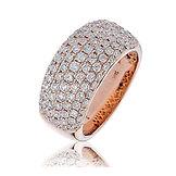 1.65CTS Diamonds  18k Rose Gold  Ring