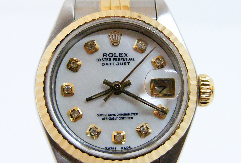 Rolex DateJust Ladies Steel & Gold with Diamond Dial