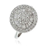 1.20CTS Diamonds  18k White Gold  Ring
