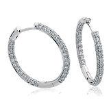 Diamond Hoops 0.65ct  18kt White Gold Earrings