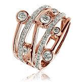 0.60 CTS Diamonds  18k Rose Gold  Ring