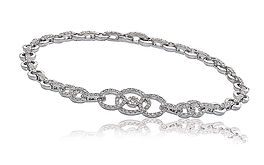 1.15ct Diamond Bracelet 18k White Gold