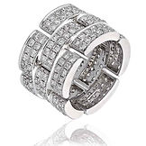 2.30CTS Diamonds  18k White Gold  Ring