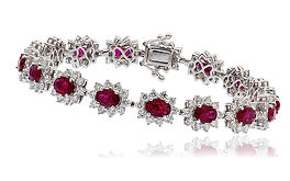 14.22ct Diamond & 8.50ct Ruby  18kt White Gold