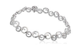 0.65ct Diamond Bracelet 18k White Gold