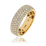 1.00CTS Diamonds  18k Yellow Gold  Ring