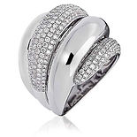 1.55CTS Diamonds  18k Rose Gold  Ring
