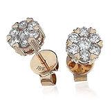 0.60CTS Diamond Studs  18k Rose Gold