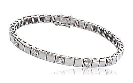 0.50ct Diamond Bracelet  18k White Gold