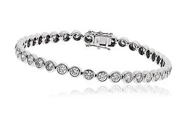 3.00ct Diamond Bracelet 18k White Gold