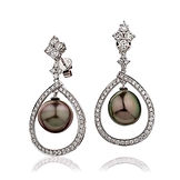 1.30ct Diamond & Pearl 18k White Gold