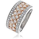 1.00CTS Diamonds  18k White/Rose Gold  Ring