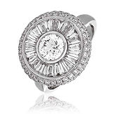 2.25CTS Diamonds  18k White Gold  Ring