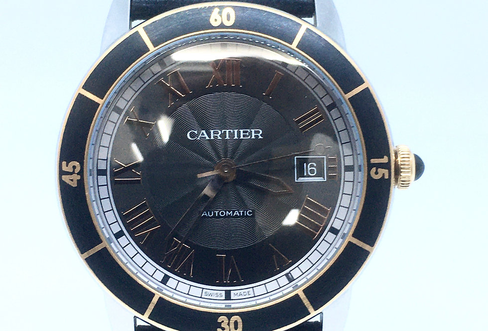 Cartier Ronde Croisiere Gents Stainless & 18k Gold  3886