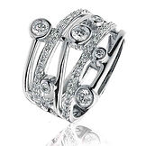0.60CTS Diamonds  18k White Gold  Ring