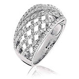 1.30CTS Diamonds  18k White Gold  Ring