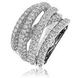 5.00CTS Diamonds  18k White Gold Ring