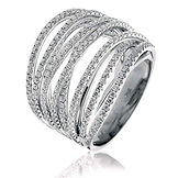 1.60CTS Diamonds  18k White Gold  Ring