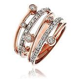 0.37CTS Diamonds  18k Rose Gold  Ring