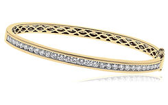 2.00ct Diamond Bangle 18kt Yellow Gold