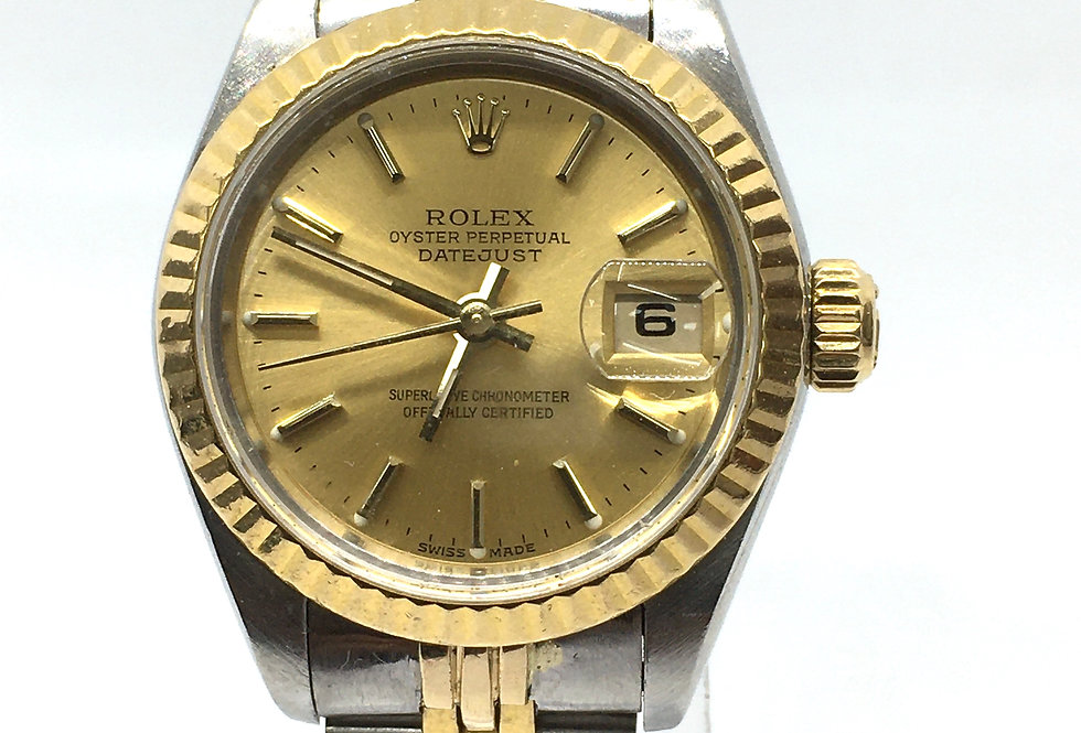 Rolex DateJust Ladies Steel & 18k Gold Watch 69173