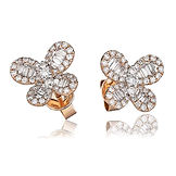 0.90ct Diamond Butterfly 18k Rose Gold