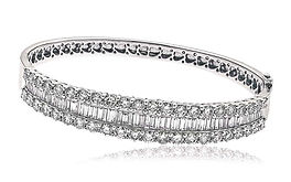 7.35ct Diamond Bangle 18k White Gold