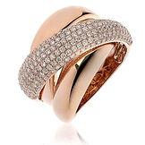 1.35CTS Diamonds  18k Rose Gold Ring