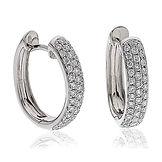 Diamond Hoops 0.70ct 18k White Gold Earrings XYE0021