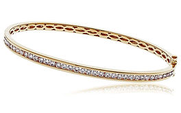 1.50ct Diamond Bangle  18k Yellow Gold