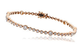 2.50ct Diamond Bangle 18k Rose Gold