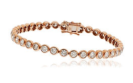 5.00ct Diamond Bracelet 18k Rose Gold