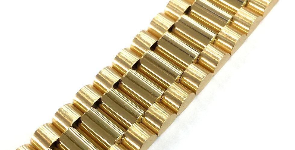 Presidential Style 18k Yellow Gold Bracelet 16mm